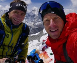 The two climbers who found the frozen bodies in their suits of ice.