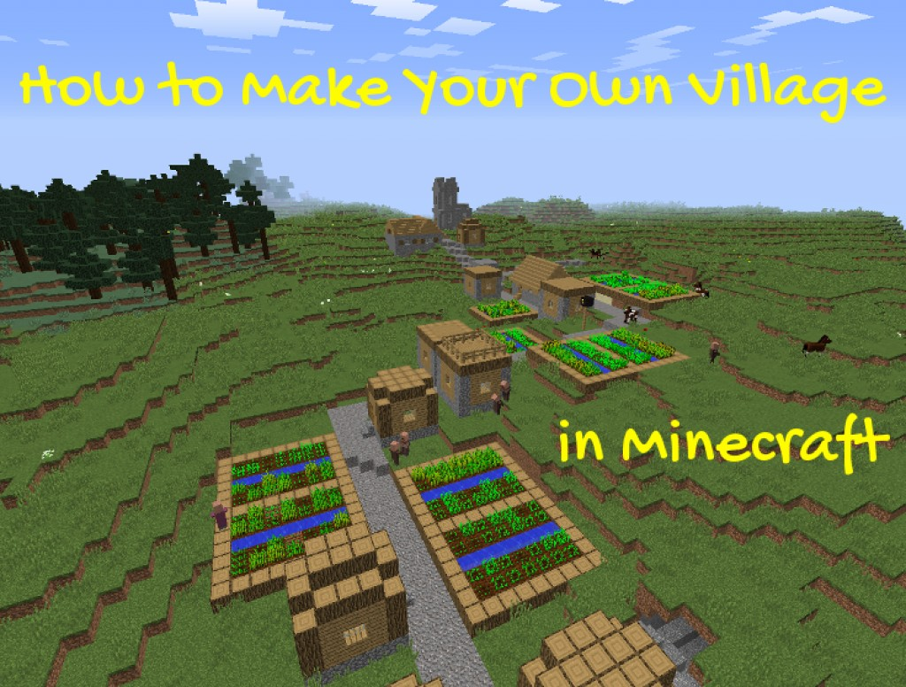 Smallest House In The World Minecraft how to make your own village in minecraft | levelskip