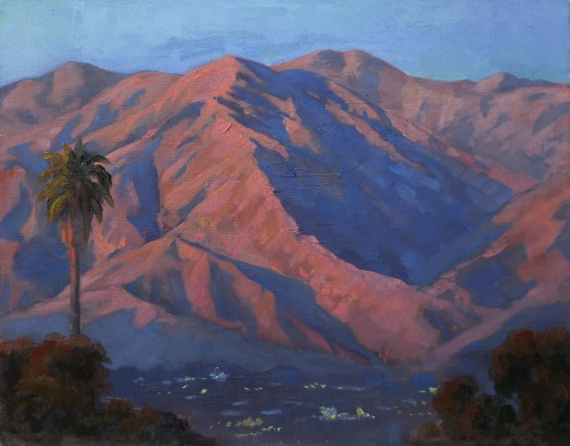 Sunset on the San Gabriel Mountains