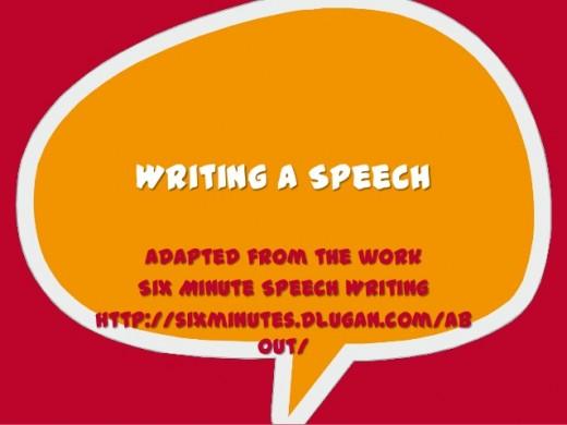 Writing a Speech.