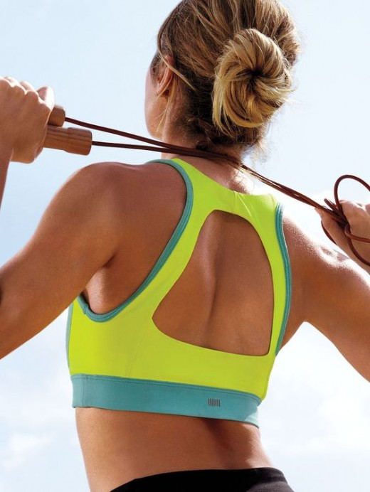 Jump Rope and Sports Bra