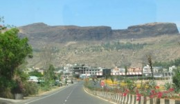 As one approaches the Trimbakeswar town, the Bramha Giri mountain looms large on the background
