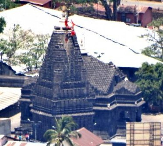 Trimbakeswar temple from Bramha Giri with tele lens