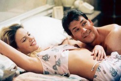 Charlize Theron Waking up in Reno (2002) with Patrick Swayze. Hey, this could be watchable after all.
