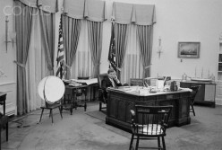 President Kennedy works in The Oval Office