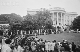 Tricia Nixon and  Edward Cox wedding  at White House  June 12, 1971