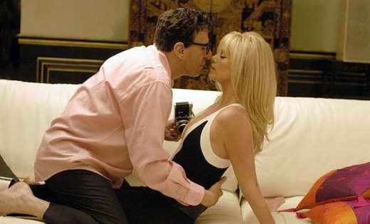 Charlize Theron played the actress Britt Ekland to Geoffrey Rush's Peter Sellers.
