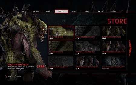 A collection of Evolve's micro-transactions.