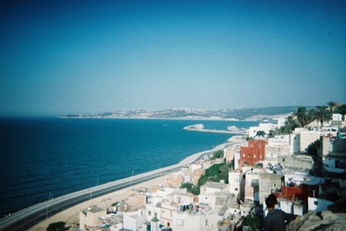 View over the coastline at Tangier