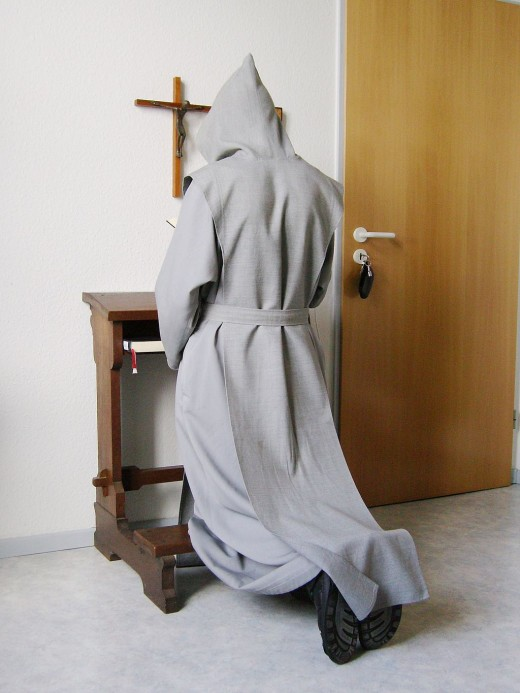 Trappist Monk at Prayer.