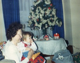My Mom with my niece Brittney at Christmas, 1994