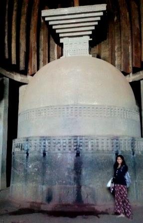 The huge Stupa of Karla