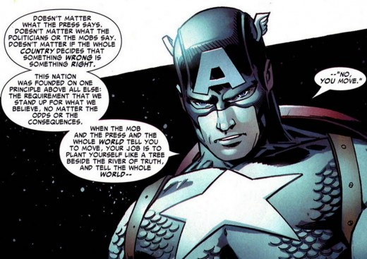 Captain America Speaks the Truth