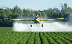 Crop dusting is like watching a master painter at work
