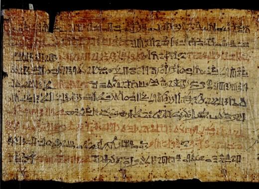 Biblical papyrus.