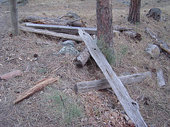 Remnants of the old Flume lie scattered about. Watch out for nails if you are riding a Bike!....photo courtesy Flickr