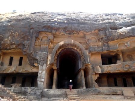 The entrance to the Chaityagriha , Bhaja