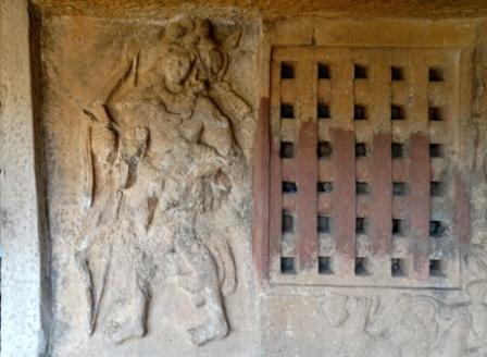 Sculpture of Surya Cave, Bhaja