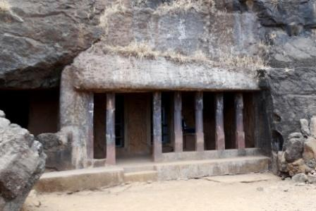The veranda of Surya cave from thr front