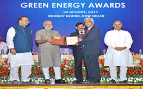 Narendra Modi awarded Green energy audit during energy summit