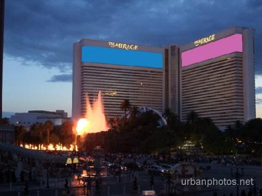 Mirage Las Vegas volcano, June 2009