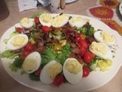 Devil Egg Salad for Low Carb Diets