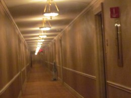 The hallway in Hotel DuPont leading to the Executive Suites.