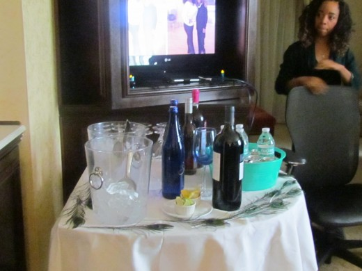 Various beverages were also served at the shower.