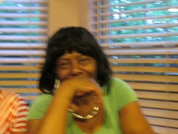 Aunt Tina, the wife of my brother Edward Coleman, who entertained his brother-in-law Randolph, while the women of the family attended the bridal shower.