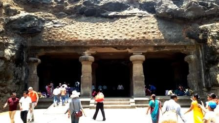 Entrance to the Great cave, Elephanta