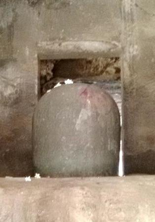 The Shiva Lingam in the Shrine in the main hall