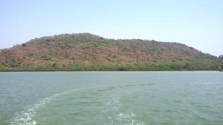 Elephanta island, as seen from the sea