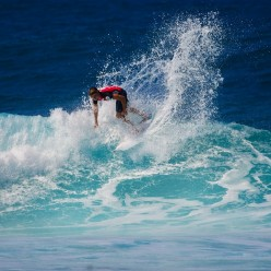 Falling from surfboard goes with learning this activity