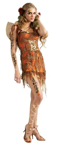Rubie's Costume Adult Harvest Moon Fairy Costume, Orange, Large