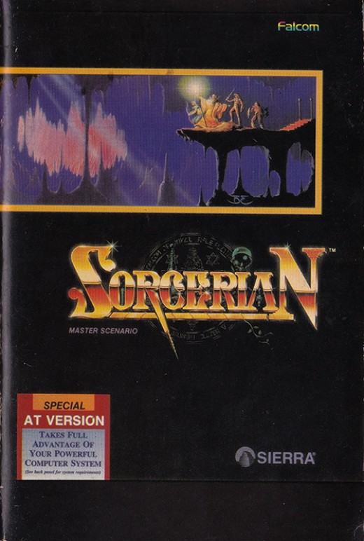 My battered manual for Sorcerian, PC version.