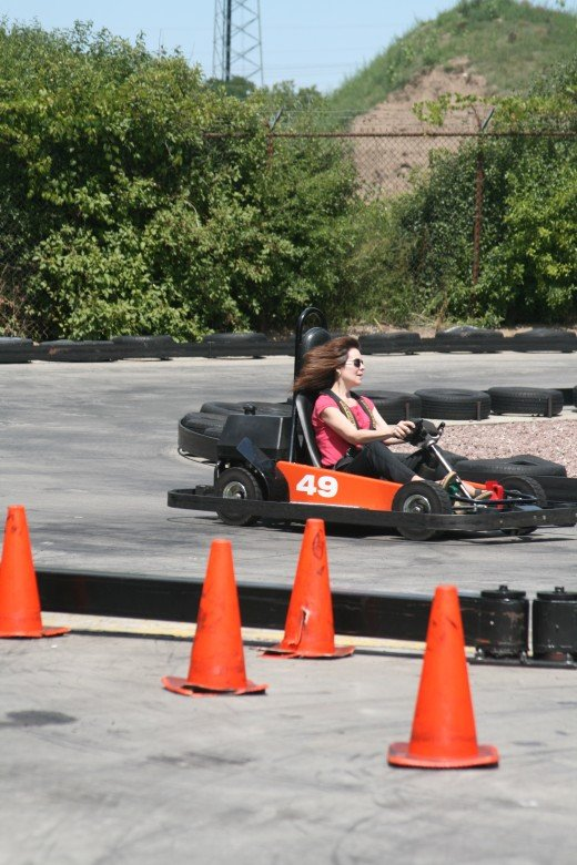 The speeds of the go-carts are around 30 to 40 miles an hour. But some will go to 60 or greater. But there is nothing quite like the feel of being on a safe track, and taking the turns while at the same time possessing the skills to not bump another.