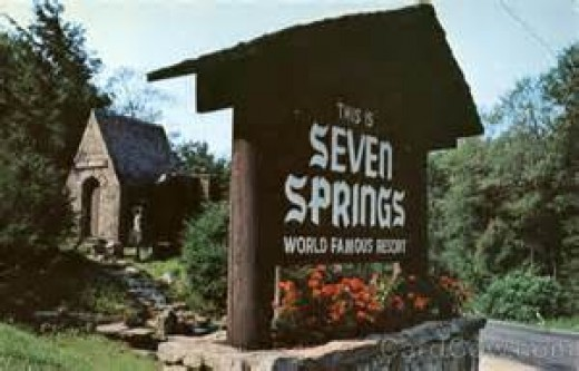 Welcome Sign at 7Springs