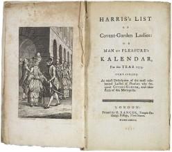 Eighteenth Century List of Prostitutes