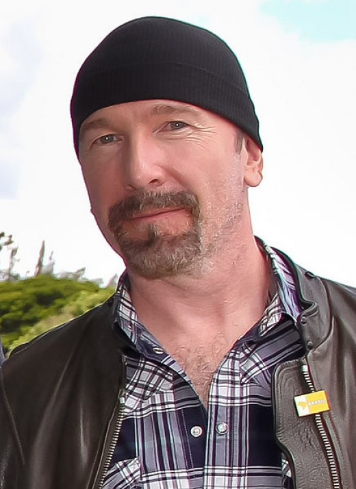 David Evans (AKA The Edge) from U2