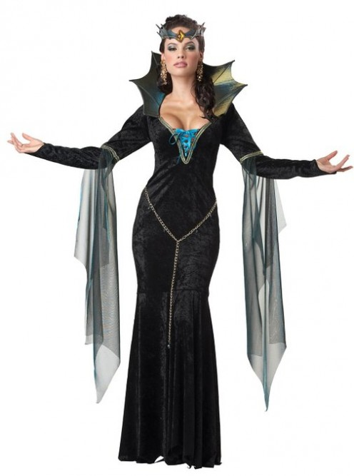 Want to have power and magic, but don't want to be a witch? You can be a sorceress instead with this costume