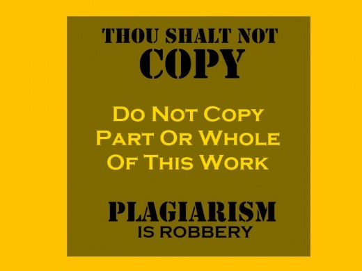 Plagiarism - Do Not Copy