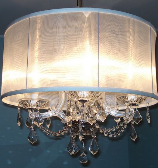 Crystal Rain 29' Wide 6-Light Crystal Chandelier (M7013) - Lamps