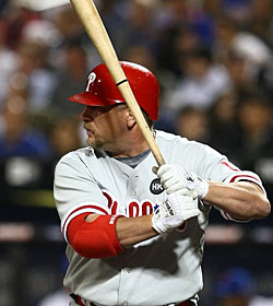 Matt Stairs, a Phillie glad the fans aren't booing them.