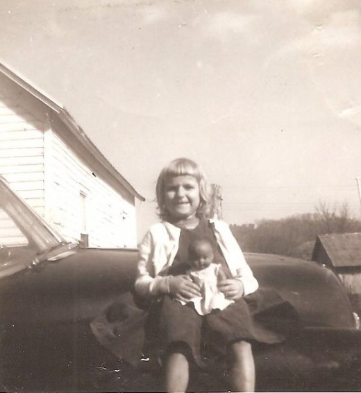 My mother at the age of four.
