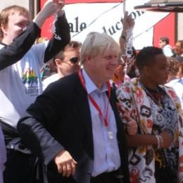 Lodon Mayor Boris Johnson in the thick of it