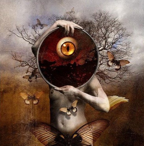 Profound eye;Surreal art lip and eye