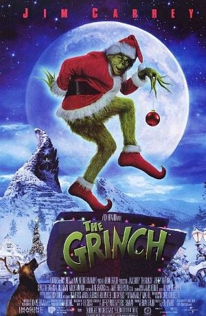 The theatrical poster for Dr. Seuss' How the Grinch Stole Christmas. Not seen as a very good movie by some.