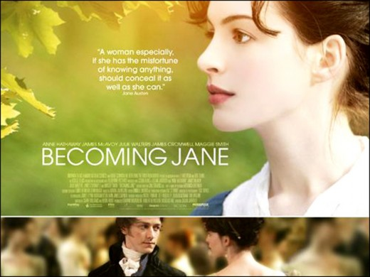 Becoming Jane: Another one of my favourites with Anne Hathaway in which another impossible and devastating yet inspiring romance occurs.
