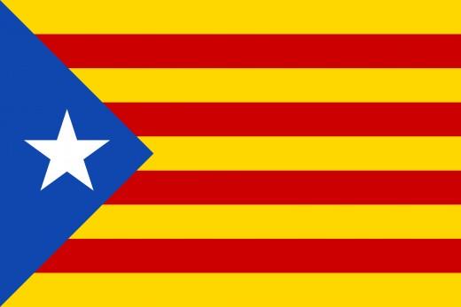 "Catalan independence flag, called ""Estelada""."