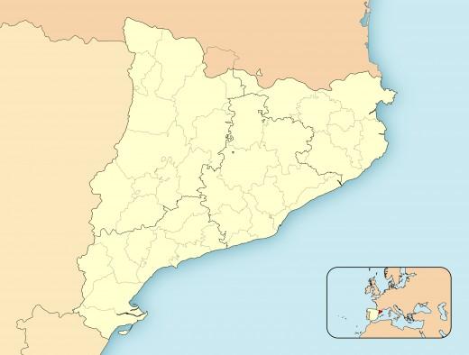 Regional map of Catalonia.
